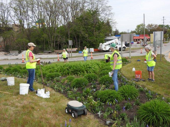 Triangle Garden Spring Planting 2021